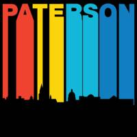 Retro 1970's Style Paterson New Jersey Skyline