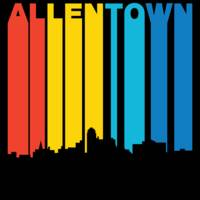 Retro 1970's Style Allentown Pennsylvania Skyline