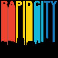 Retro 1970's Style Rapid City South Dakota Skyline
