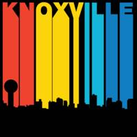Retro 1970's Style Knoxville Tennessee Skyline