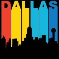 Retro 1970's Style Dallas Texas Skyline