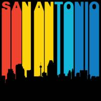 Retro 1970's Style San Antonio Texas Skyline