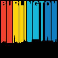 Retro 1970's Style Burlington Vermont Skyline