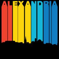 Retro 1970's Style Alexandria Virginia Skyline