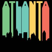 Retro 1970's Style Atlanta Georgia Skyline