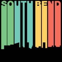 Retro 1970's Style South Bend Indiana Skyline
