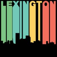 Retro 1970's Style Lexington Kentucky Skyline