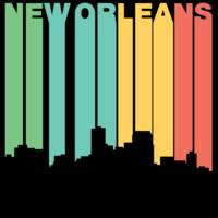 Retro 1970's Style New Orleans Louisiana Skyline
