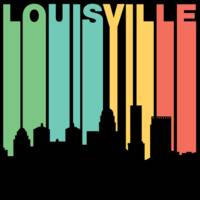 Retro 1970's Style Louisville Kentucky Skyline
