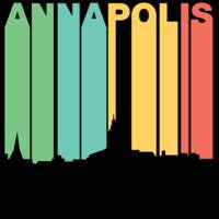Retro 1970's Style Annapolis Maryland Skyline