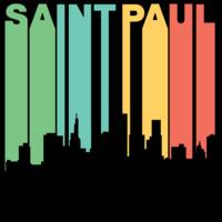 Retro 1970's Style Saint Paul Minnesota Skyline
