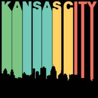 Retro 1970's Style Kansas City Missouri Skyline
