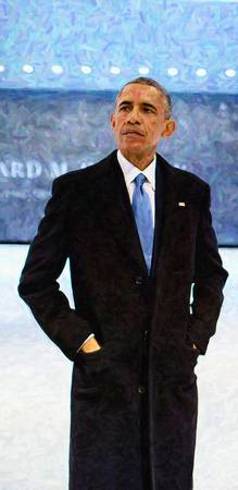 Abstract Portrait of President Barack Obama 10