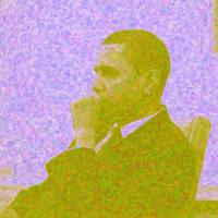 Abstract Portrait of President Barack Obama 30x30