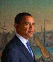 Abstract Portrait of President Barack Obama 34