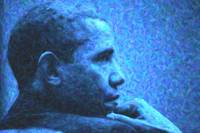 Abstract Profile of President Barack Obama sml