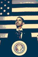 Barack Obama With American Flag 4