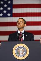 Barack Obama With American Flag
