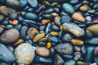 Abstract Nature Tropical Beach Pebbles 923 Blue