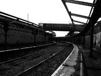 Harbour Station Black & White Photograph