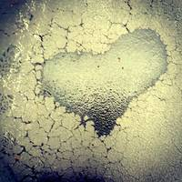 sidewalk heart in summer