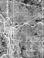 Portland Oregon Street Map