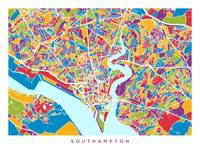 Street map of Southampton, England