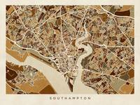 Southampton England City Map