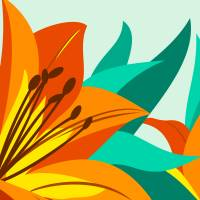 Tiger Lily Art Prints & Posters by Pixel Paint Studio