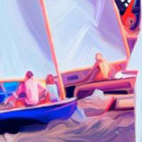 sailing Together Art Prints & Posters by Cam Davis