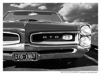 1967 GTO Poster BW