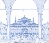 Blueprint Drawing of modern building 6 Istanbul Bl