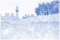 Blueprint Drawing of British Parlament