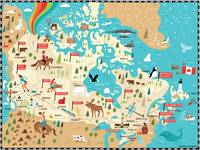Illustrated Map of Canada by Nate Padavick by They Draw & Cook & Travel