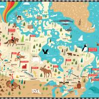 Illustrated Map of Canada by Nate Padavick Art Prints & Posters by They Draw & Cook & Travel