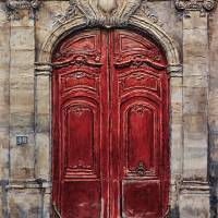 Parisian Door No. 49 Art Prints & Posters by Joey Agbayani