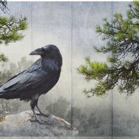 pine rock raven Art Prints & Posters by r christopher vest