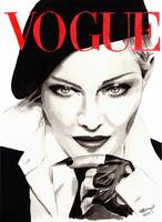 Madonna. Vogue. Fashion Illustration.