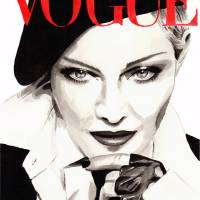 Madonna. Vogue. Fashion Illustration. Art Prints & Posters by Kasia Blanchard