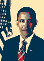 Official portrait of Barack Obama Change Poster
