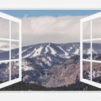Ski Slopes Open White Picture Window Frame Art Vie Art Prints & Posters by James