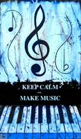 KEEP CALM AND MAKE MUSIC Blue