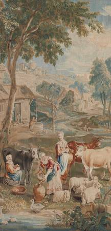 A Brussels 'Teniers' Tapestry depicting a Winter S