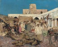 Theo van Rysselberghe , A market in Tangiers, 1883