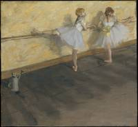Dancers Practicing at the Barre , Edgar Degas, 187