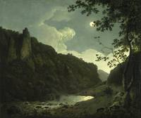 Dovedale by Moonlight, by Joseph Wright of Derby