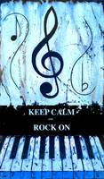 KEEP CALM AND ROCK ON Blue