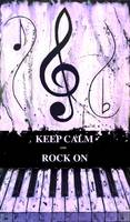 KEEP CALM AND ROCK ON Purple