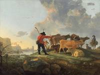 Herdsmen Tending Cattle by Aelbert Cuyp