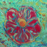 JOHNKEATONART Red Flower JOHNKEATONART JOHNKEATONA